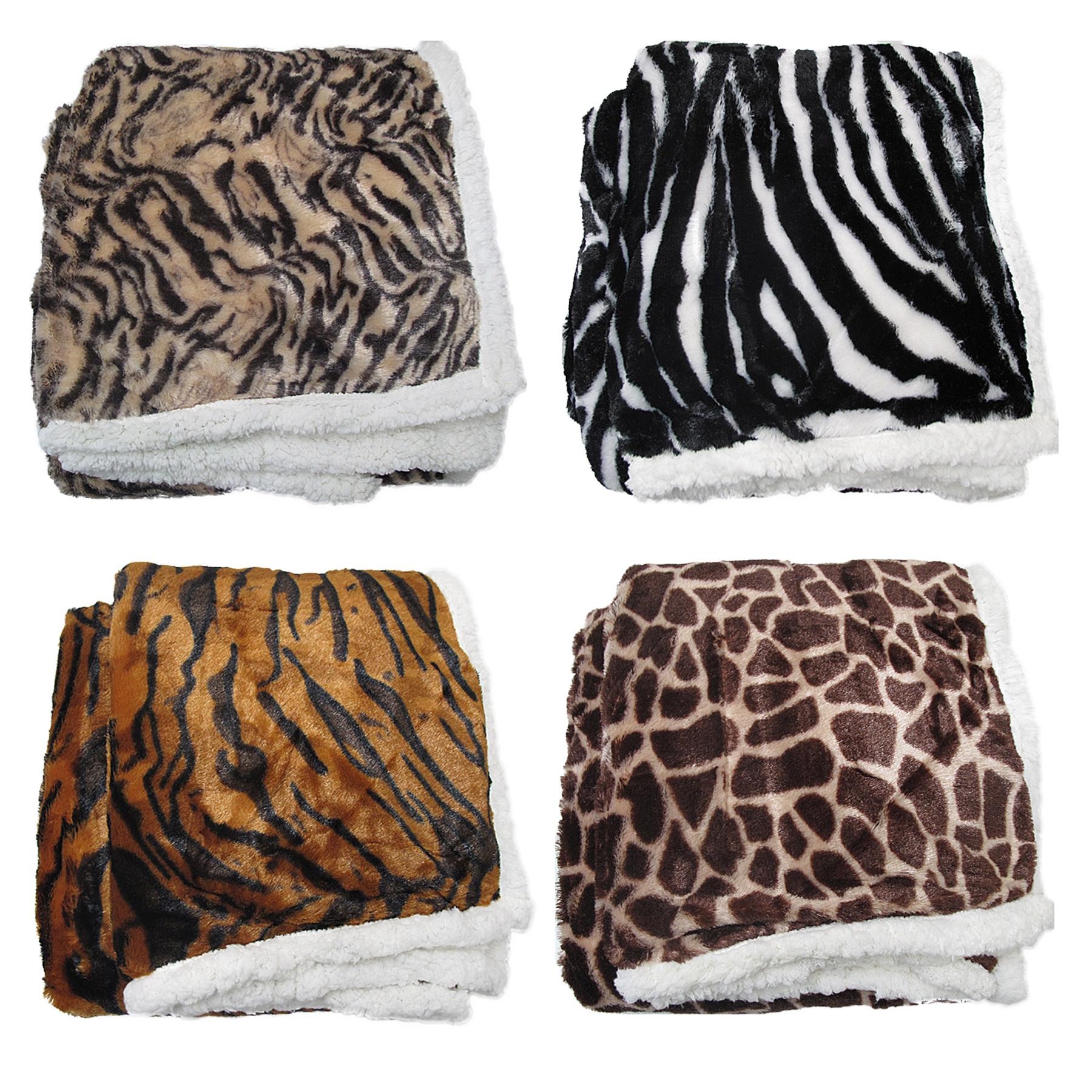 Leopard Zebra Tiger Giraffe Luxurious Faux Fur