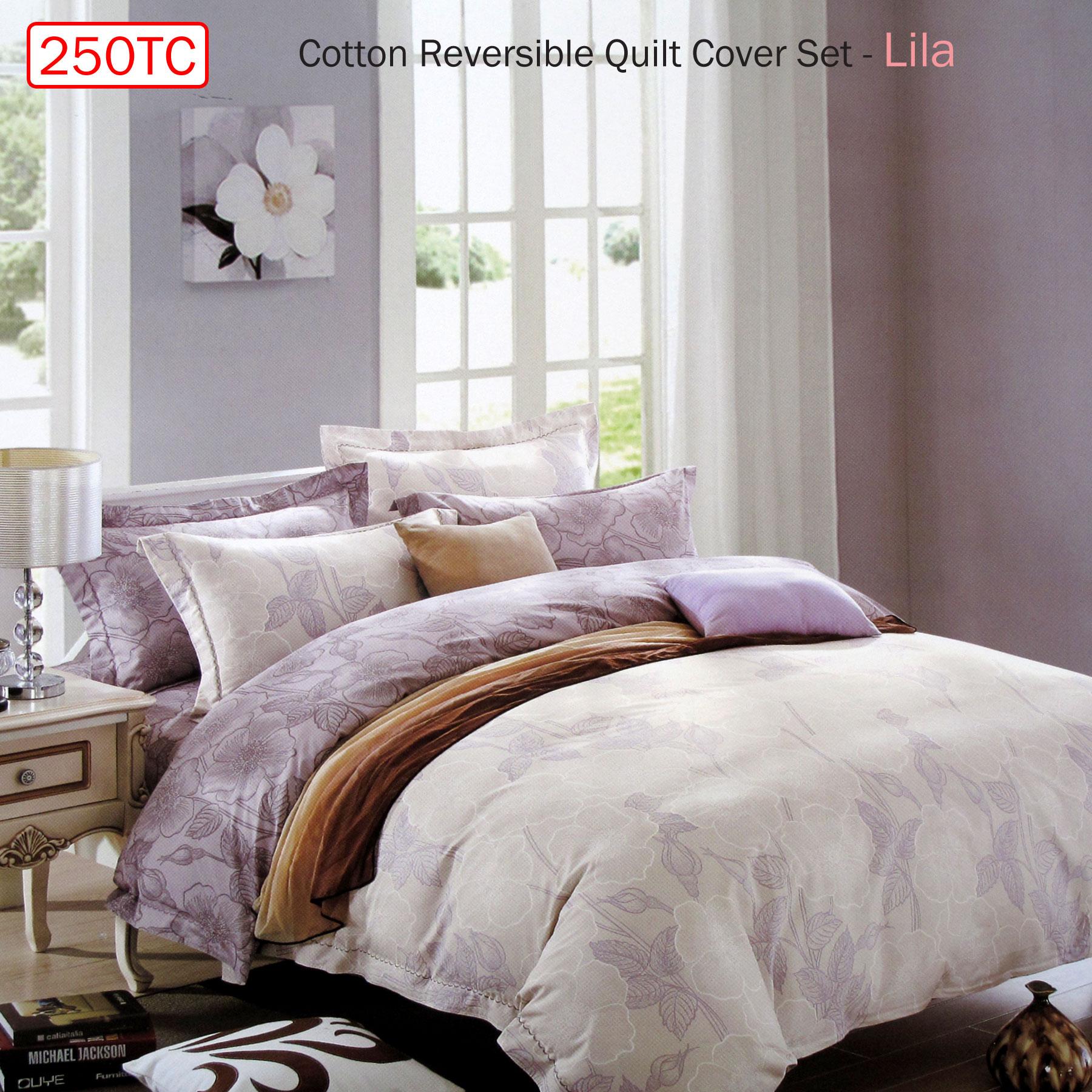 Cotton Reversible Doona Duvet Quilt Cover Queen size Multicolours Bedding Set