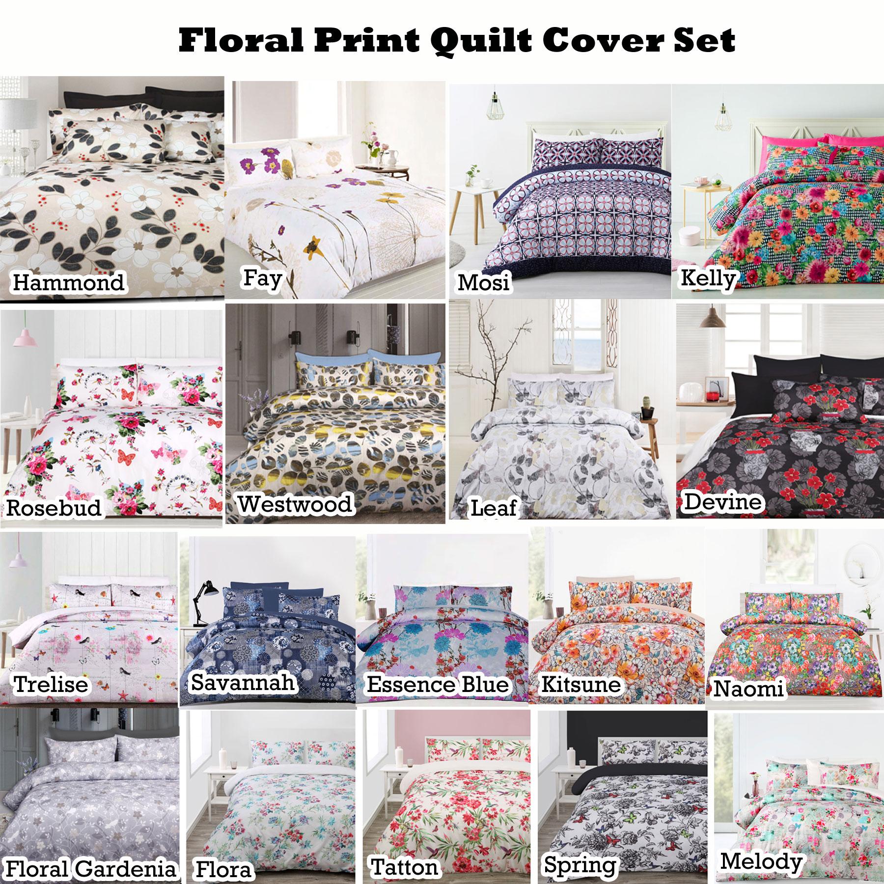 Big Sleep 3 Pce Printed Soft Feel Quilt Doona Duvet Cover Set DOUBLE QUEEN KING
