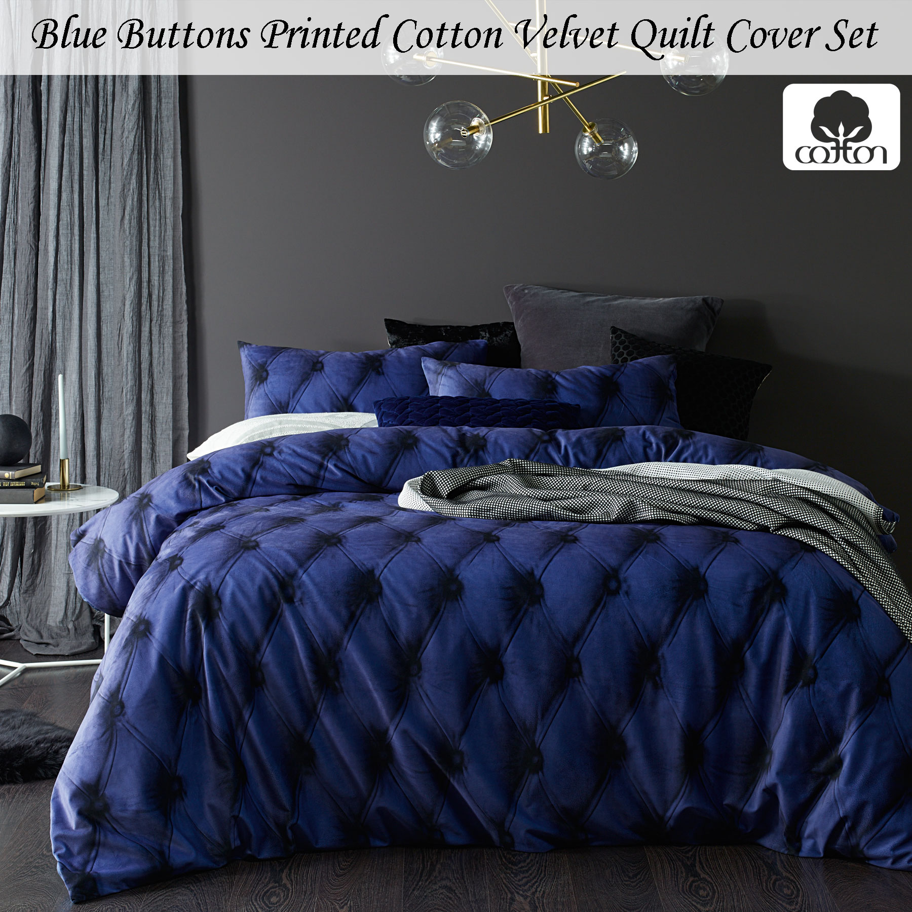 velvet set duvet itm cover catherine or bed lansfield accessories bedding crushed