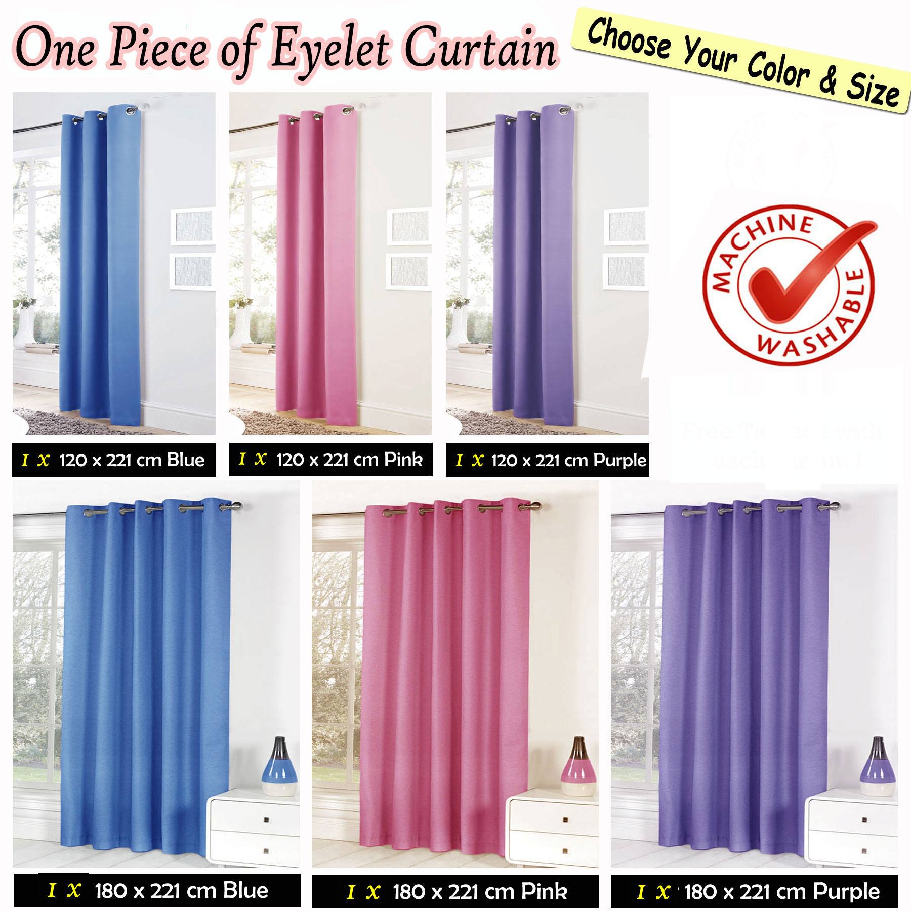 Eyelet Blackout Curtain Kids Children
