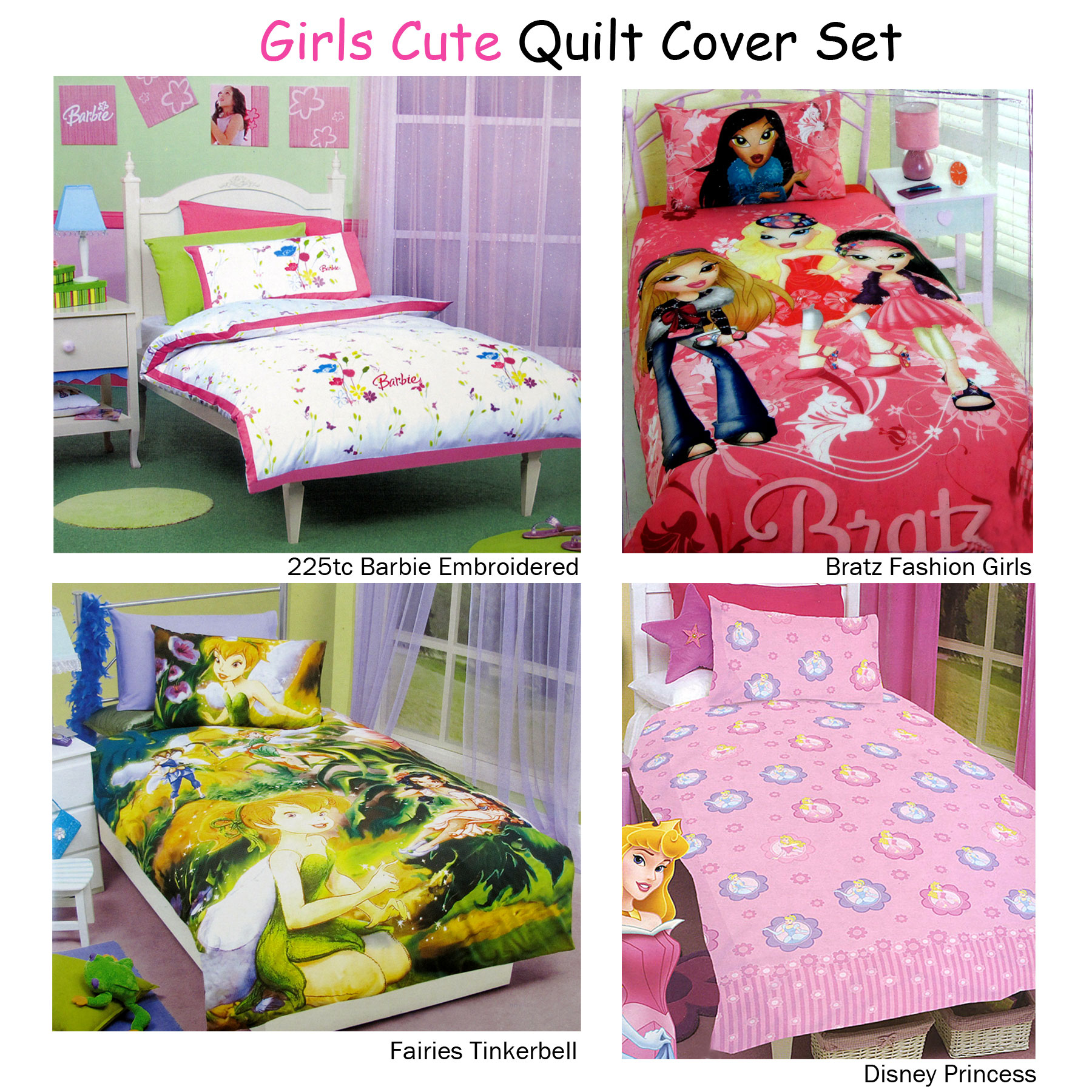 Bratz Single Reversible Duvet Set New