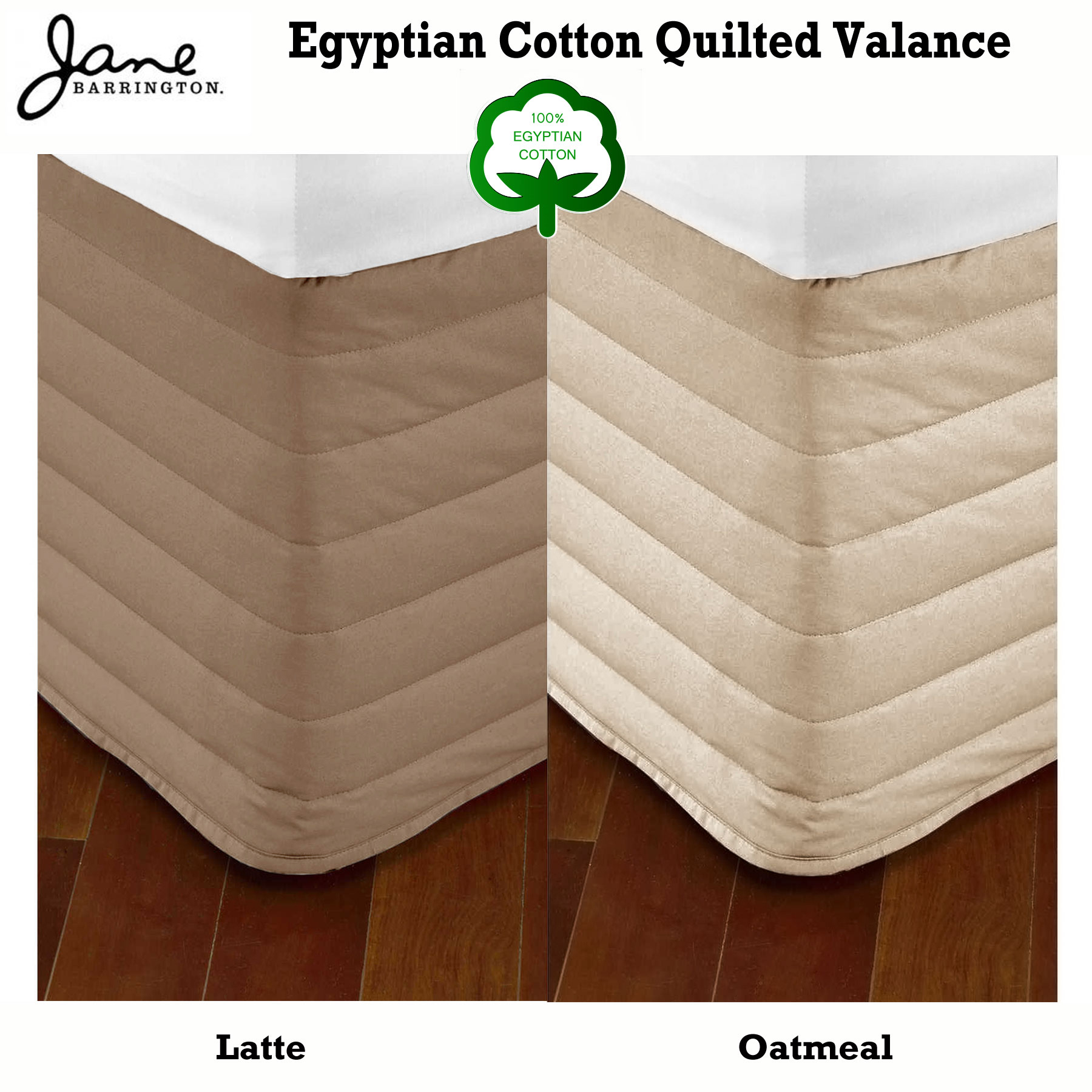 Easy Fit Quilted Valance 4 Color Choice SINGLE King Single DOUBLE QUEEN KING