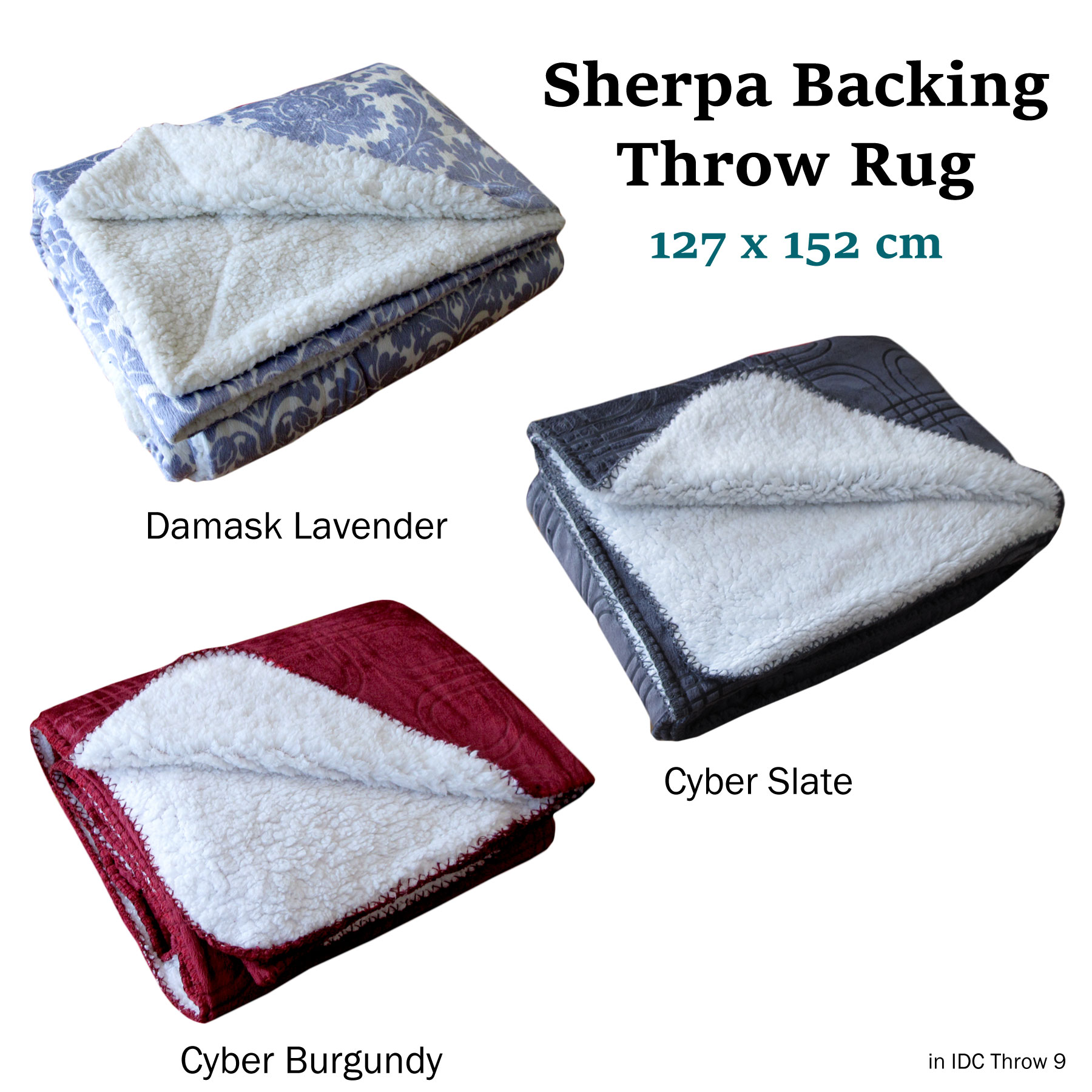 Strange Details About Idc Sherpa Backing Sofa Lounge Throw Blanket Rug 127 X 152 Cm Bralicious Painted Fabric Chair Ideas Braliciousco