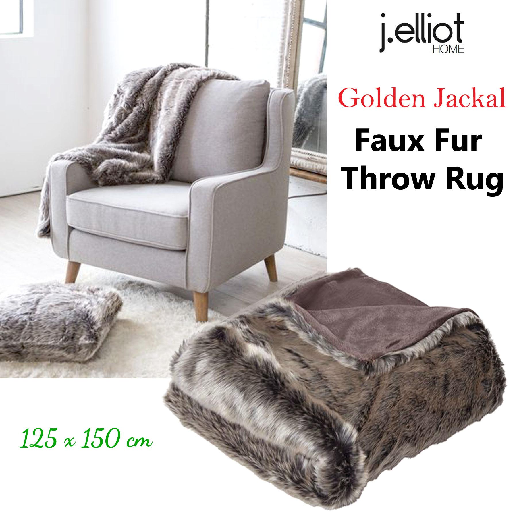 Luxury Faux Fur Lounge Sofa Throw