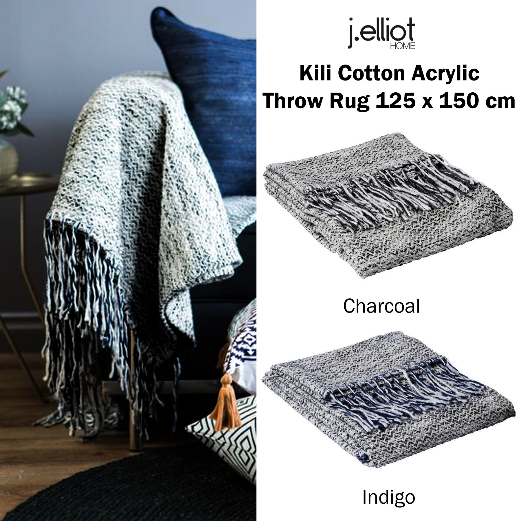 Picture of: Aragon 100 Cotton Lounge Sofa Throw Blanket Rug 125 X 150 Cm By J Elliot Indian South Asian Afghans Throw Blankets