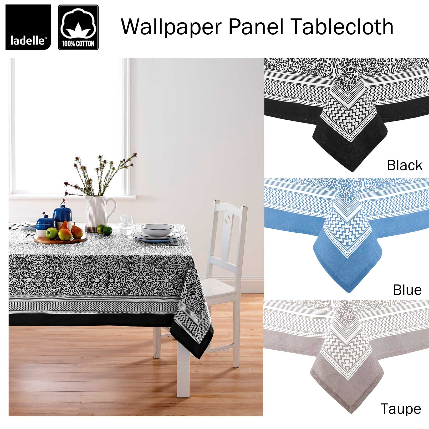 Nanterre Orange 100/% Cotton Tablecloth Oblong 8-10 OR 10-12 Seaters