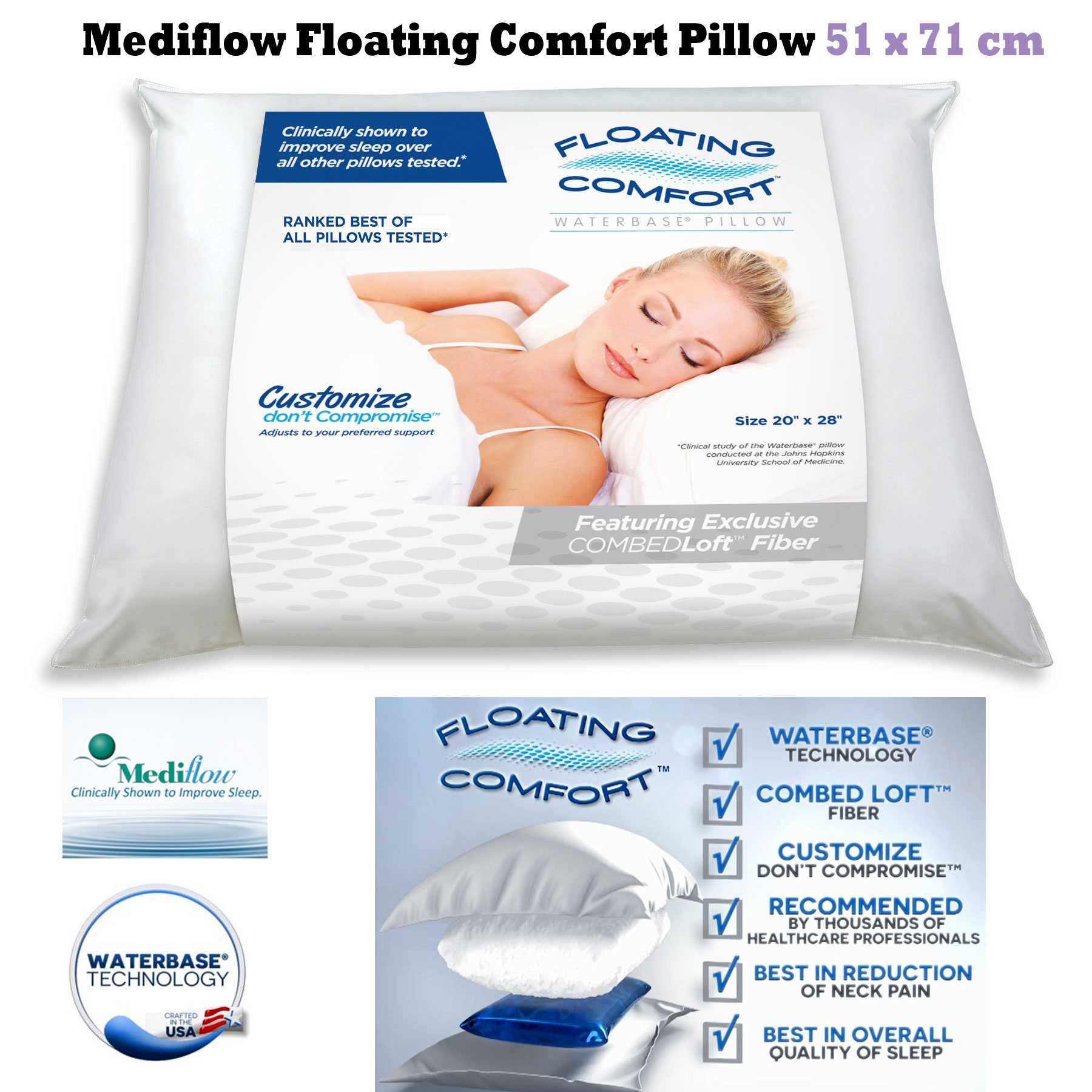 contour to pillow prevent bamboo for pain neck shipping snoring worldwide cover pin and free