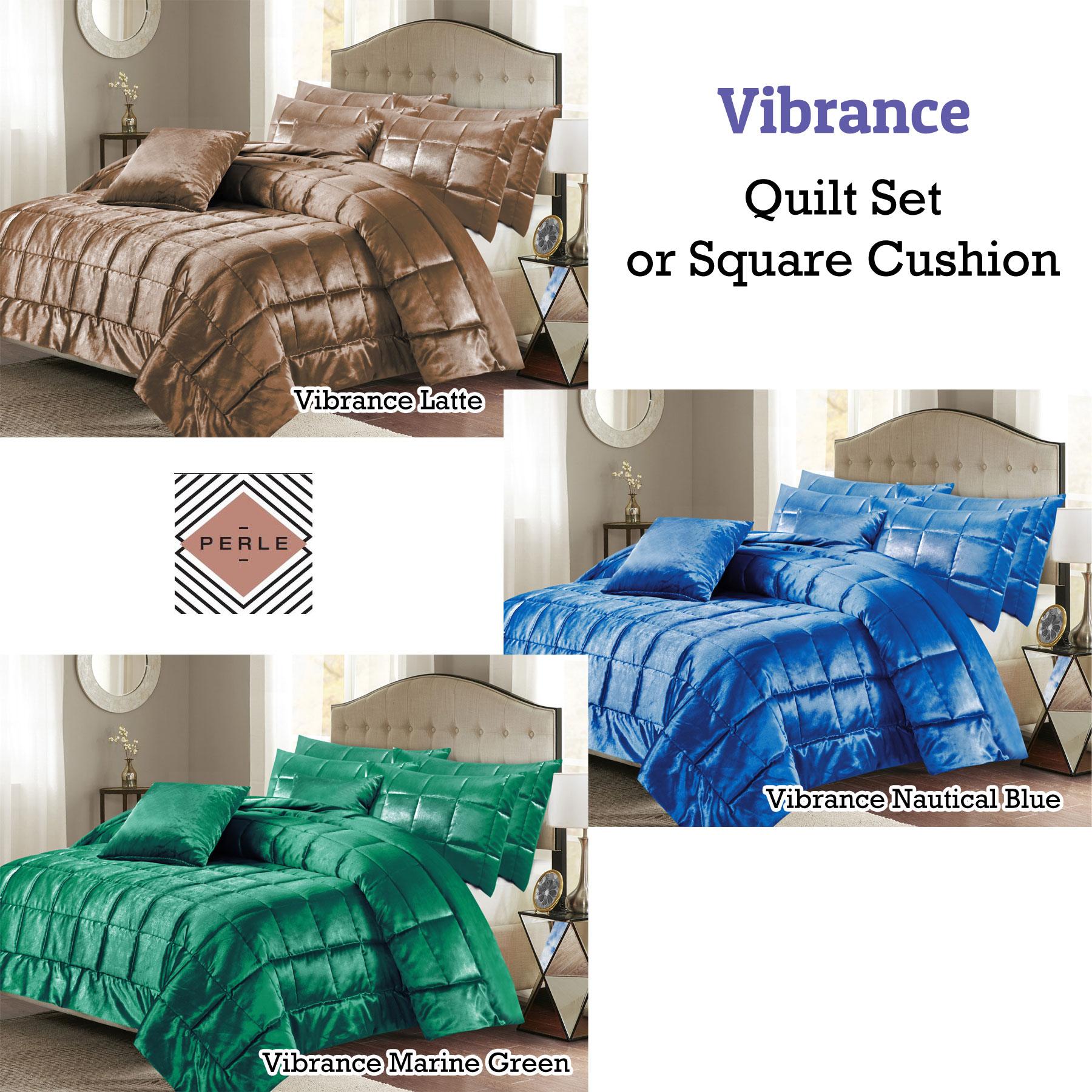 Details about vibrance quilt set or square cushion by perle linge de maison
