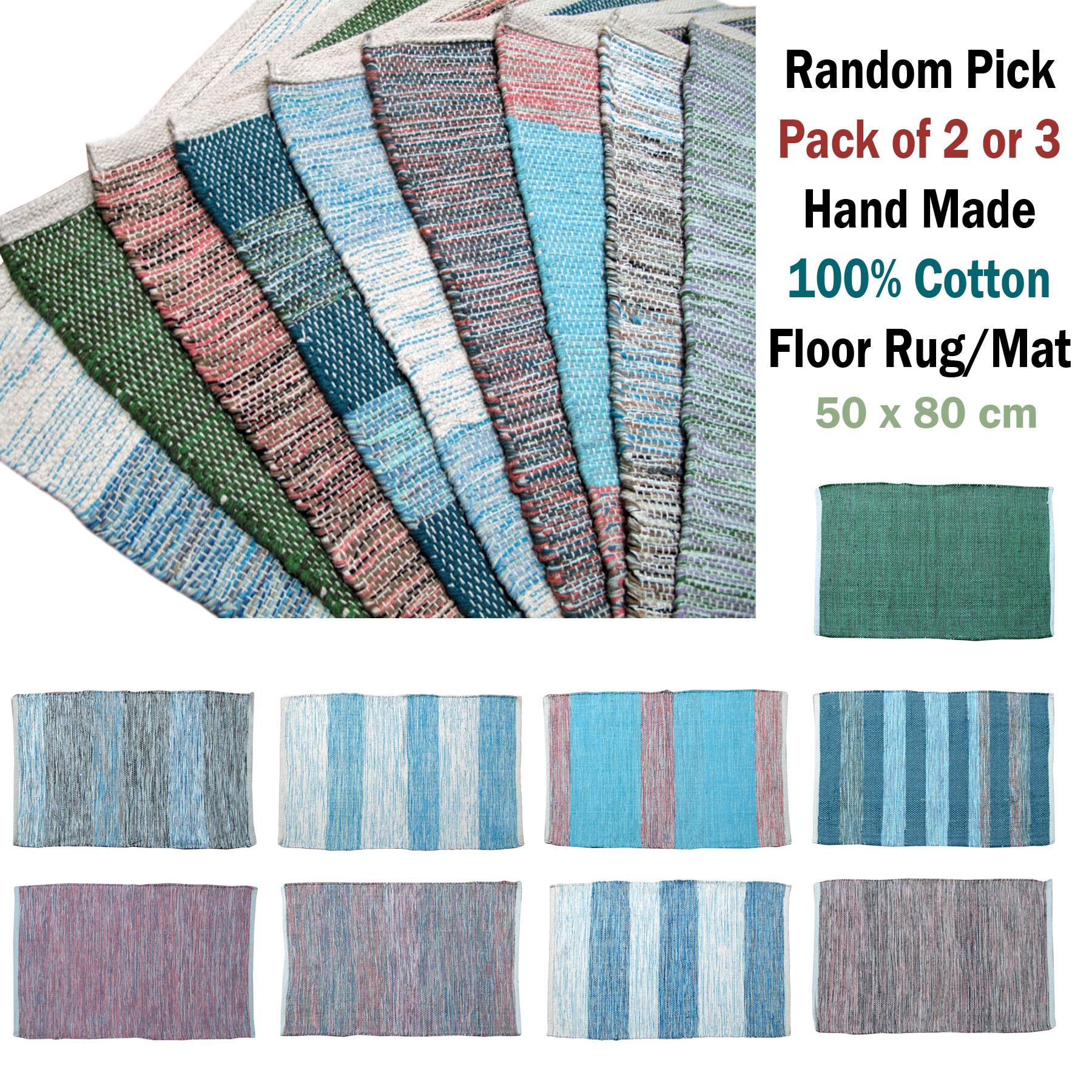 Hand Made 100 Cotton Floor Rug Mat