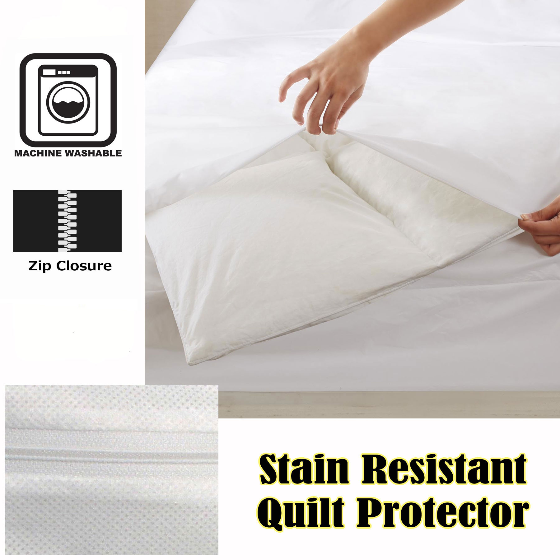 zippered product anti quilt bed dust bacterial mite distr duvet wetting single allergy solution cover fullsize waterproof protector zipperedanti